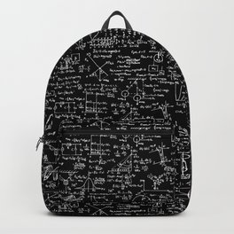 Physics Equations on Chalkboard Backpack