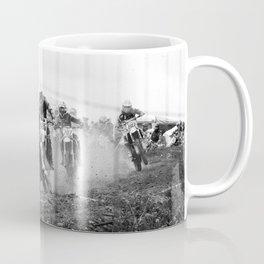 Motocross black white Coffee Mug