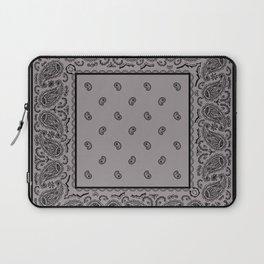 Black and Gray Bandana Laptop Sleeve