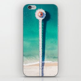 Aerial of Manhattan Beach pier iPhone Skin