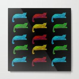 Cats - Pop Art Style on black background Metal Print