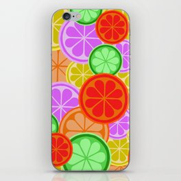 Citrus Explosion - A Pattern of Many Fruits from the Citrus Family iPhone Skin