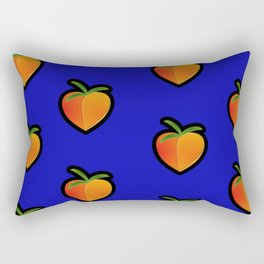Georgia Peach (Blue) Rectangular Pillow