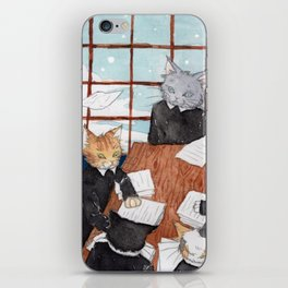 Cats' Office iPhone Skin