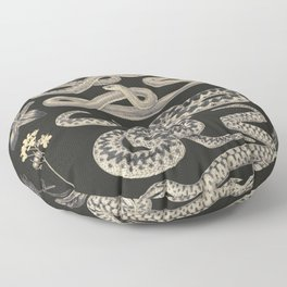 snakes and flowers Floor Pillow