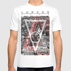 London City. MEDIUM Mens Fitted Tee White