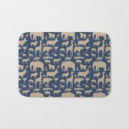 African Fauna // Khaki & Navy Bath Mat