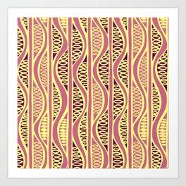 Peapods - Honeysuckle Gold Art Print
