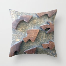 Turn Right #arrows  Throw Pillow