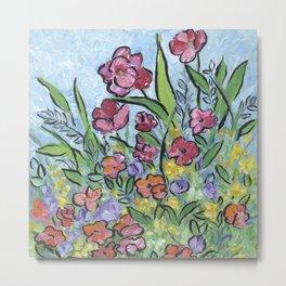 Garden Flowers Metal Print