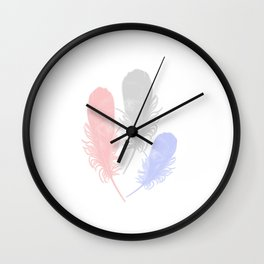 Tender Feathers Wall Clock