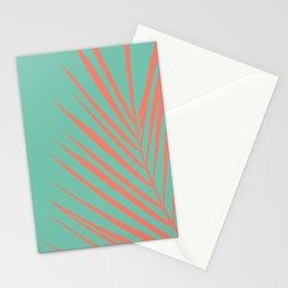 Palm leaf minimal neon  Stationery Cards