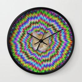 Dizzy Cat Abstract Wall Clock