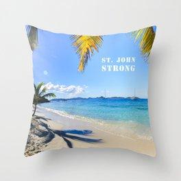 St. John Strong Throw Pillow