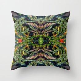 Sweet Green Algae Throw Pillow