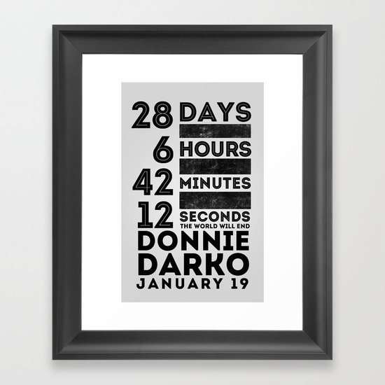 Donnie Darko 28:6:42:12 Framed Art Print