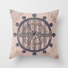 Vintage MontSerrat Ceiling Chandelier  Throw Pillow