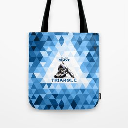 Blue Bjj Triangle choke. Jiu-jitsu grappling Tote Bag