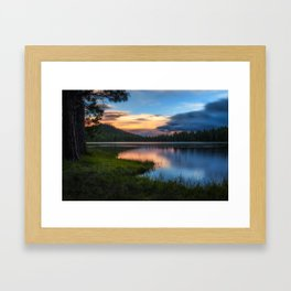 Dreaming Juanita Lake in Northen California Framed Art Print