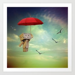 Danbo on tour Art Print