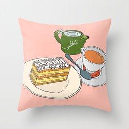 Aftenoon Cake Treat Throw Pillow