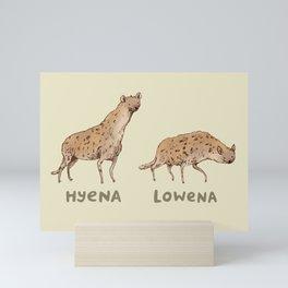 Hyena Lowena Mini Art Print