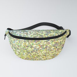 Turquoise & Gold Glitter Ombre Fanny Pack