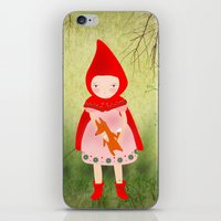red hood iPhone & iPod Skins featuring Little red riding hood by munieca