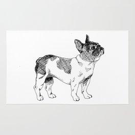 French Bulldog Ink Drawing Rug
