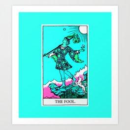 0. The Fool- Neon Dreams Tarot Art Print