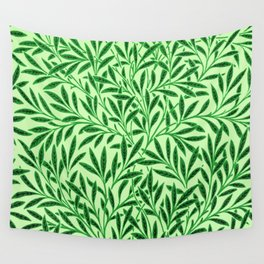 William Morris Willow Pattern, Light Jade Green Wall Tapestry