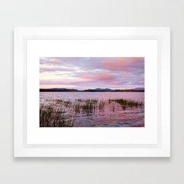 Sunset over Raquette Lake Framed Art Print
