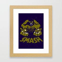 Hulk Smash Framed Art Print