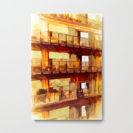 Living in old harbour stores Metal Print