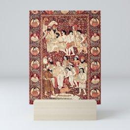 Kerman South Persian Pictorial Rug with Joseph Mini Art Print