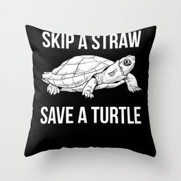 Turtle Animal Welfare Throw Pillow