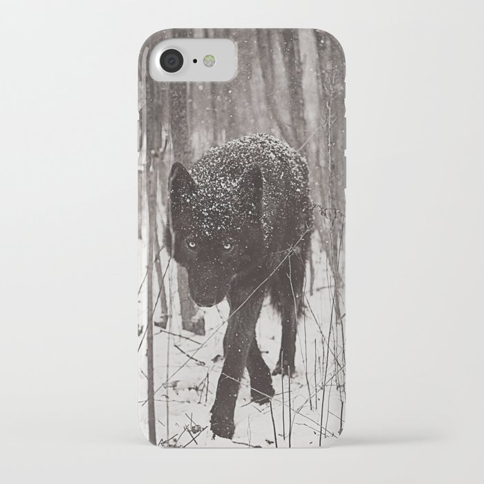 snow wolf iphone case
