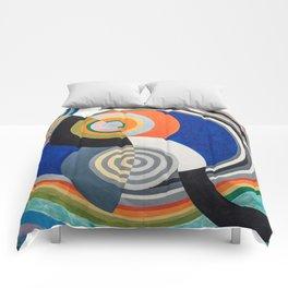 "Robert Delaunay ""Rythme no. 2"" Comforters"