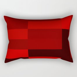 shades of red abstract Rectangular Pillow