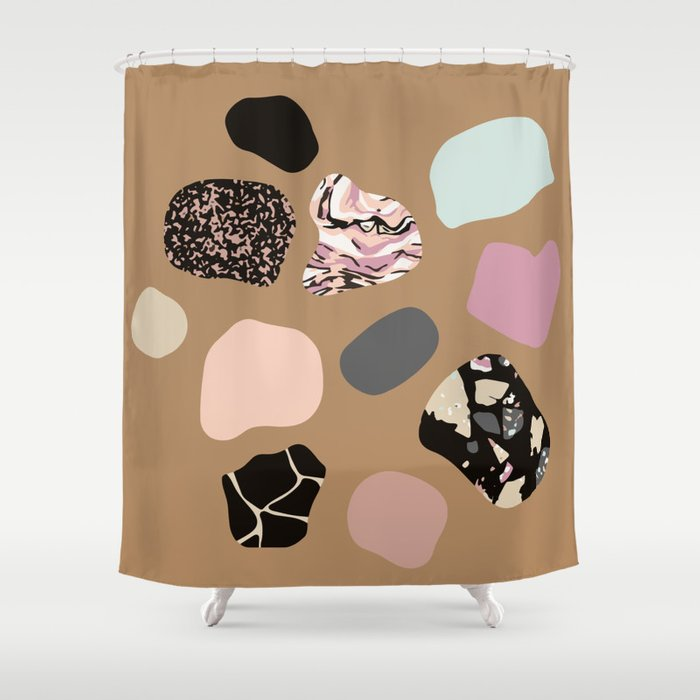 HOT PEBBLES Shower Curtain