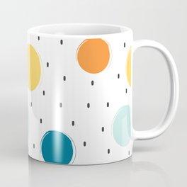 cute colorful pattern with grunge circle shapes Coffee Mug