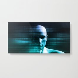 Science Analytics and Medical Concept for Brain Metal Print