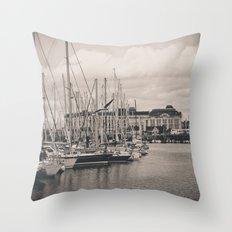 Casino at the harbor Throw Pillow
