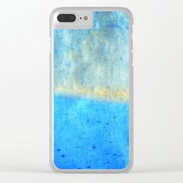 Eternal Blue - Blue Abstract Art By Sharon Cummings Clear iPhone Case