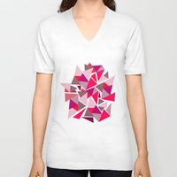 geo V-neck T-shirts featuring Geo by Amy Harlow