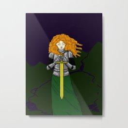 Lost Knight Metal Print
