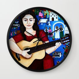 "Violeta Parra - ""Black wedding"" Wall Clock"