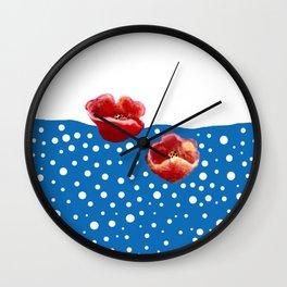 Coquelicot et flux Wall Clock