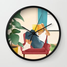 On the pages of a book Wall Clock