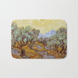 Vincent Van Gogh Olive Trees Bath Mat